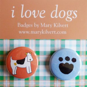Mary Kilvert - I Love Dogs Badges