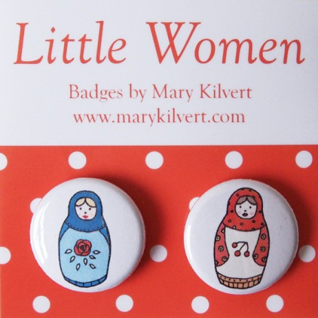 Mary Kilvert - Babushka Dolls Badges