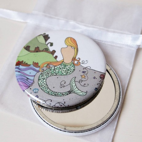 mermaid pocket mirrors