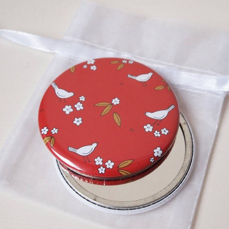 Oriental Red Pocket Mirrors