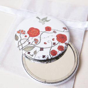 Red Rose Pocket Mirror