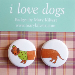 Mary Kilvert - Sausage Dog Badges