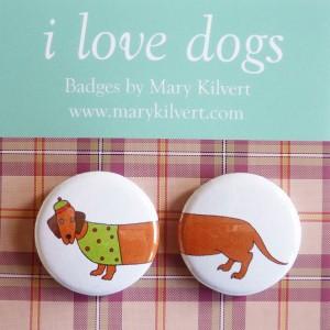 Mary Kilvert - Sausage Dog Badges