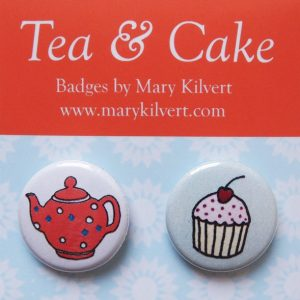 Mary Kilvert - Tea and Cake Badges