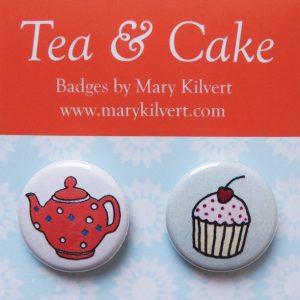 Mary Kilvert - Tea and Cake Badges