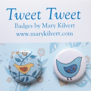 Mary Kilvert - Tweet Tweet Badges