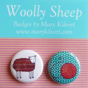 Mary Kilvert - Woolly Sheep Badges