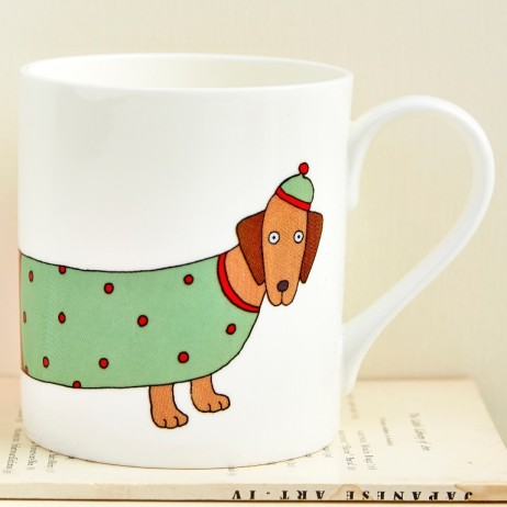 Dashing Dachshund Mug by Mary Kilveret