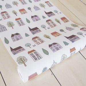 Mary Kilvert - Town Houses Wallpaper