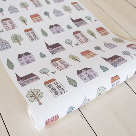 Mary Kilvert - Town Houses Wallpaper