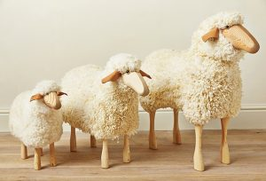 Wooden Sheep Stools