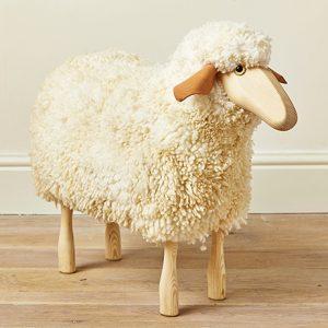 Medium Ewe Wooden Sheep Stool