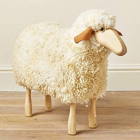 Medium Ewe Wooden Sheep Stool