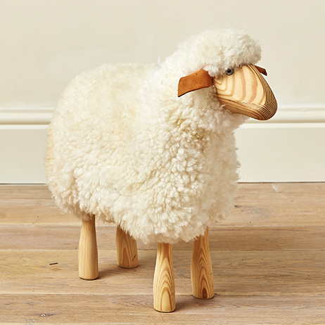 Small Lamb Wooden Stool