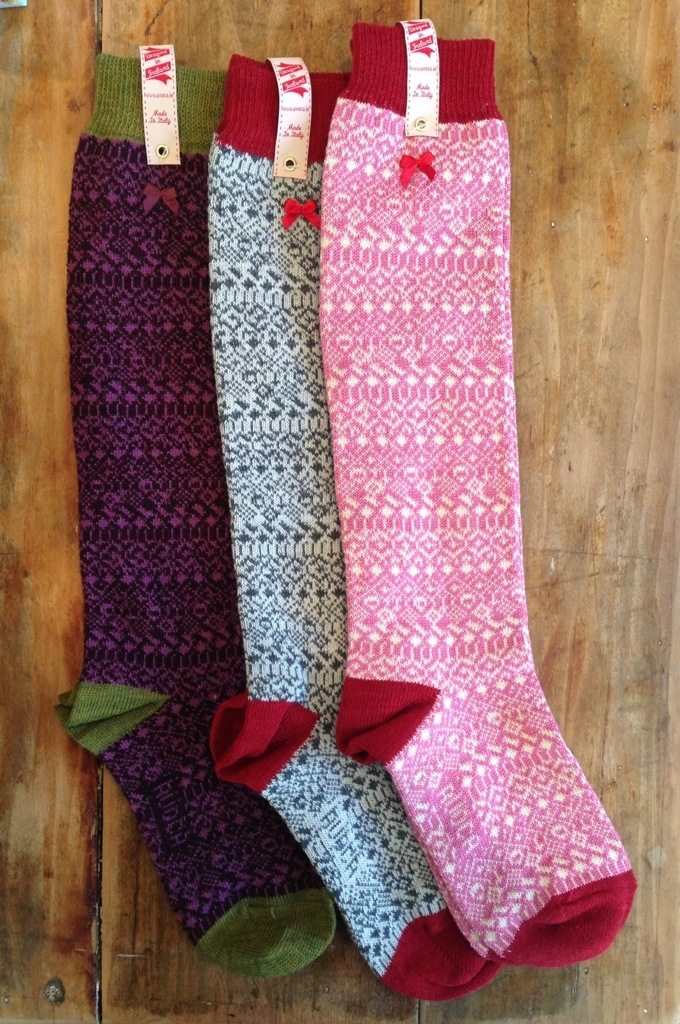 Avoca Hill Knee Socks available in Mary Kilvert shop in Frome Somerset