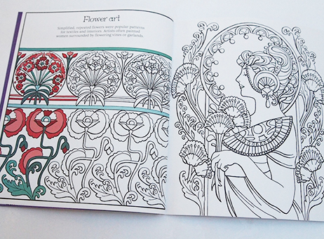 Art Nouveau Patterns To Colour Mary Kilvertmary Kilvert