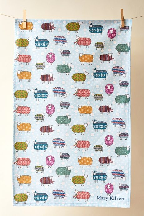 Mary Kilvert - Sheep in the Snow Tea Towel