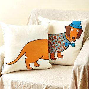 Mary Kilvert - Pair of Long Dog Cushions