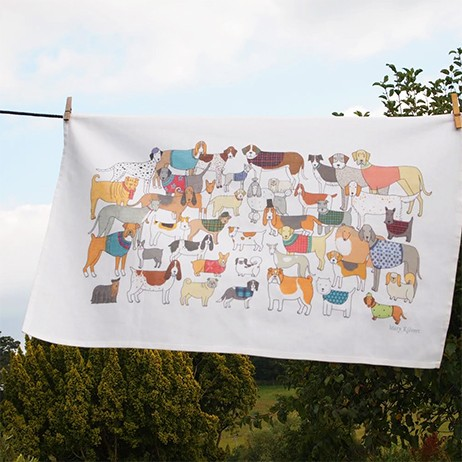 Mary Kilvert Pack of Proud Pooches Tea Towel