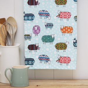 Sheep in the Snow Tea Towel - Mary Kilvert