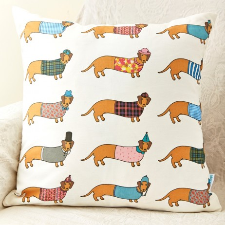 Mary Kilvert - Larry Long Dog Pattern Cushion