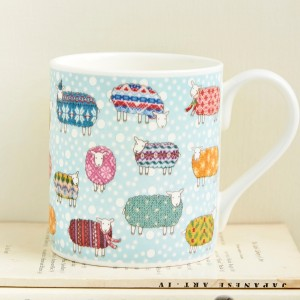 Mary Kilvert Sheep in the Snow Mug