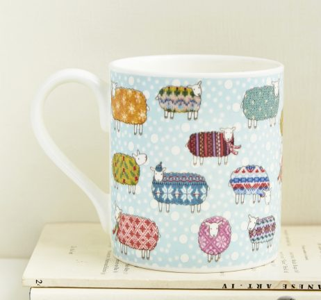 Sheep in the Snow Mug