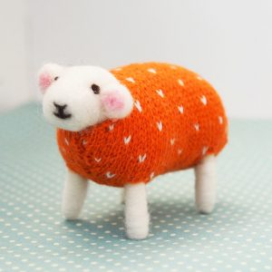 Pumpkin Seed Felted Sheep