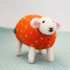 Pumpkin Seed Felted Sheep