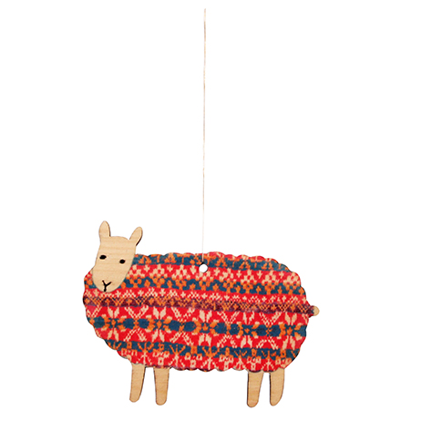 Sheep Wooden Decoration