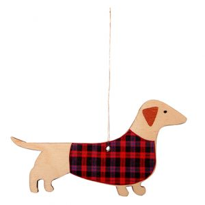 Mary Kilvert Sausage Dog Decoration