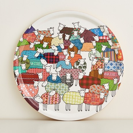 Mary Kilvert Round Sheep Tray