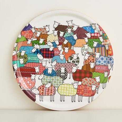 Mary Kilvert Round Sheep Tray