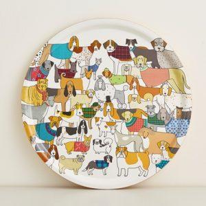 Mary Kilvert Round Dog Tray