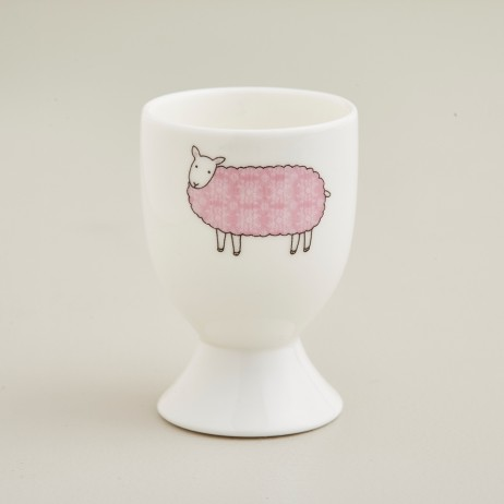 Mary Kilvert Pale Pink Sheep Egg Cup