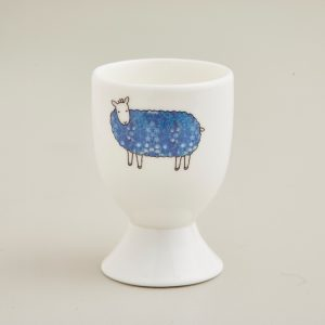 Mary Kilvert Blue Floral Sheep Egg Cup