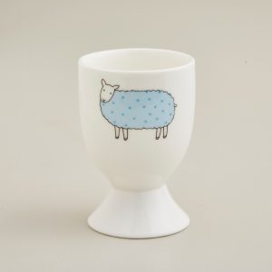 Mary Kilvert Blue Spot Sheep Egg Cup