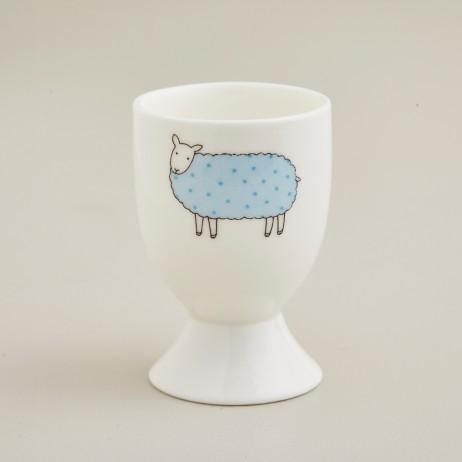 Mary Kilvert Blue Spot Sheep Egg Cup