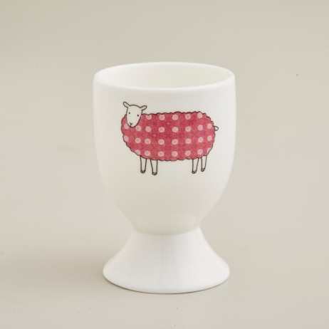 Pink Rose Sheep Egg Cup