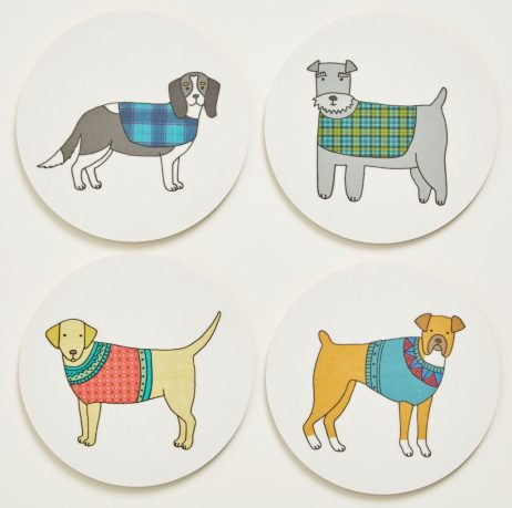 Mary Kilvert - Pack of Pooches Coasters