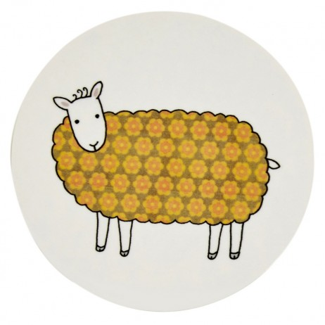 Mary Kilvert - Colourful Sheep Coaster