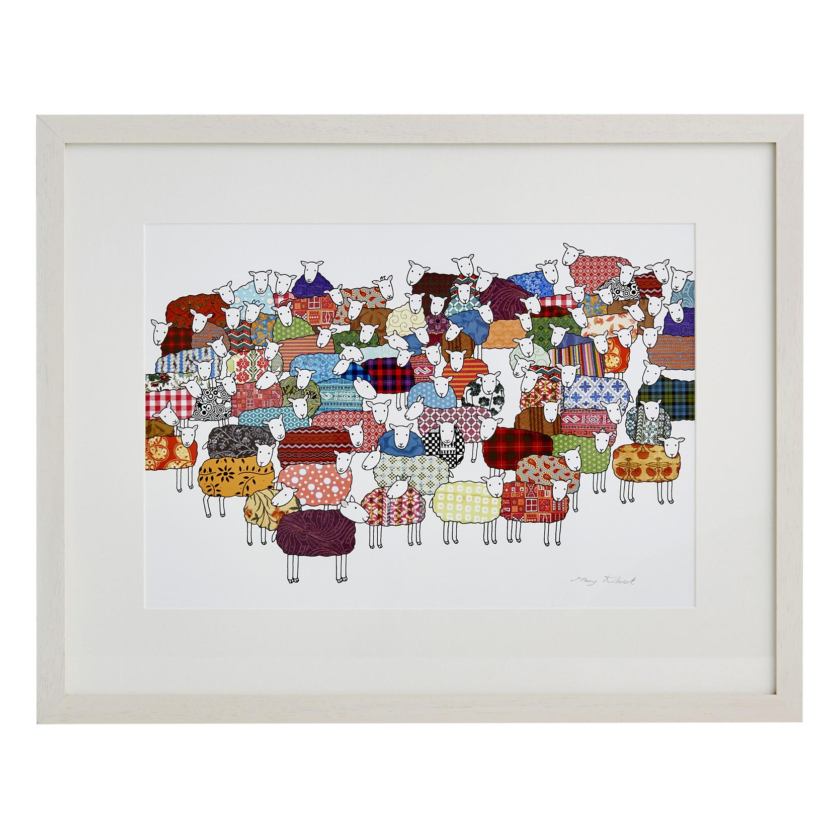 Colourful Sheep Fine Art Print Mary Kilvertmary Kilvert