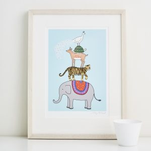 Mary Kilvert - Menagerie Fine Art Print