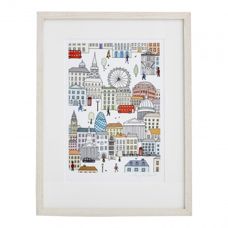 Mary Kilvert - London Town Fine Art Print
