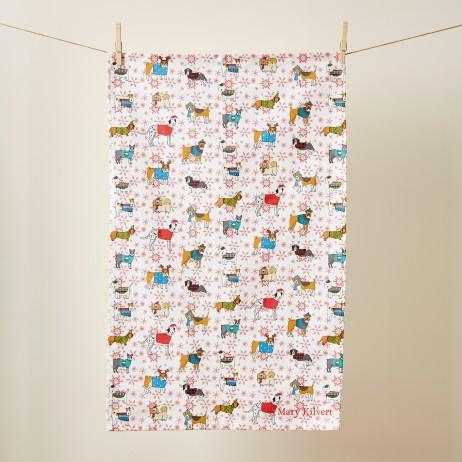 Mary Kilvert - Christmas Canines Tea Towel