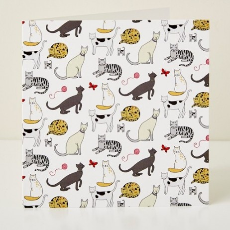 Mary Kilvert - Cat Pattern Greeting Card