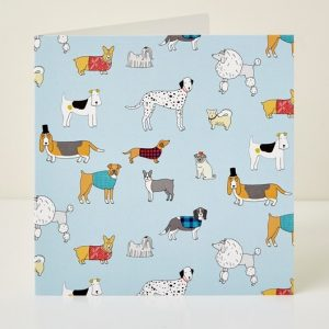 Mary Kilvert - Dog Pattern Greeting Card