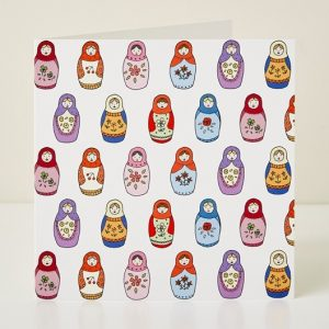 Mary Kilvert - Babushka Greeting Card