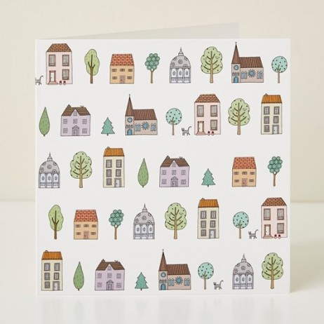 Mary Kilvert - Town Houses Greeting Card