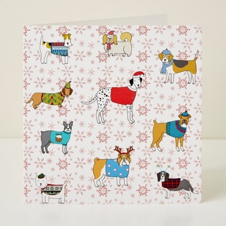 Christmas Canines Greeting Card